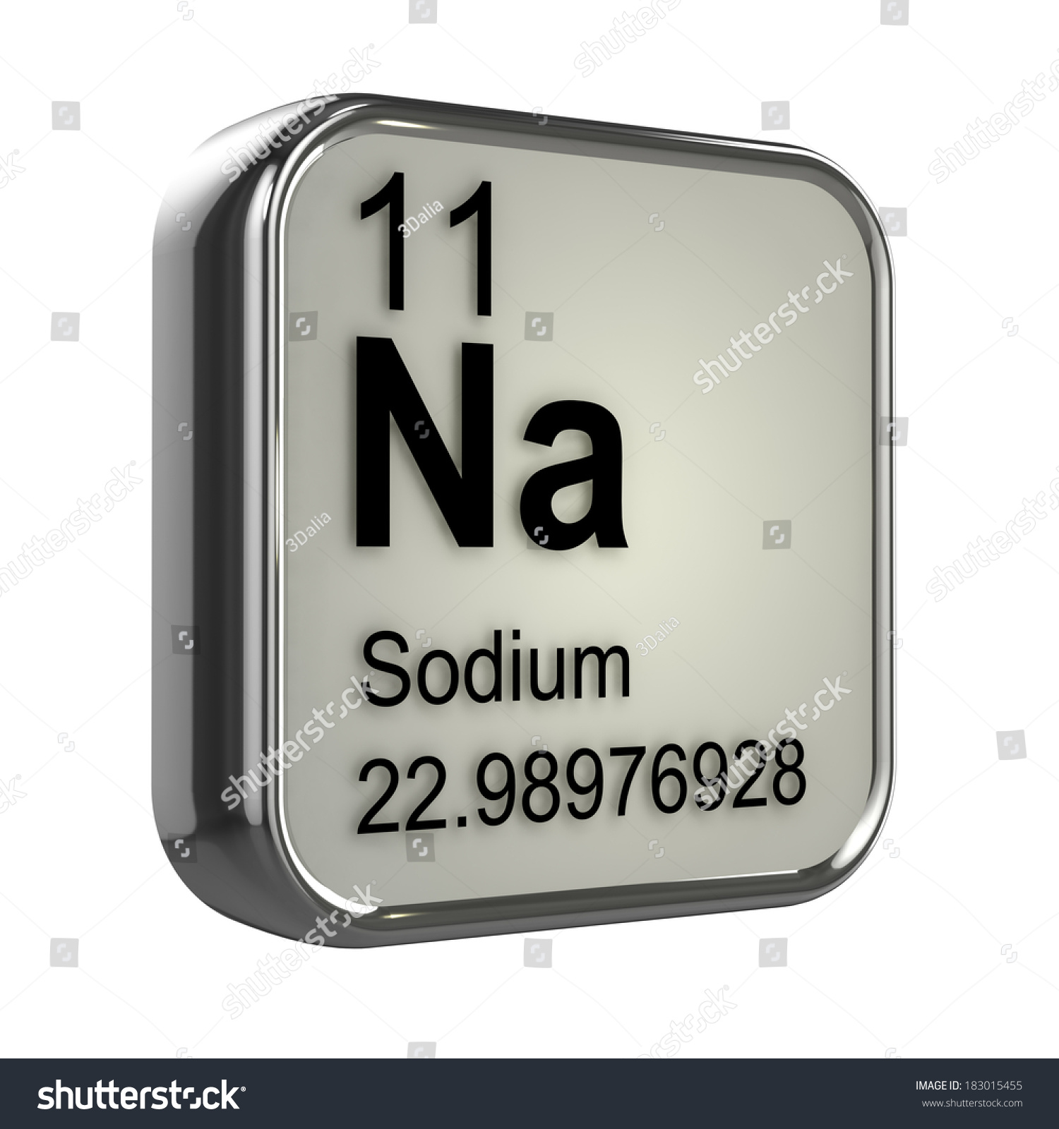 3d render sodium element periodic table stock illustration 3d render of the sodium element from the periodic table gamestrikefo Image collections