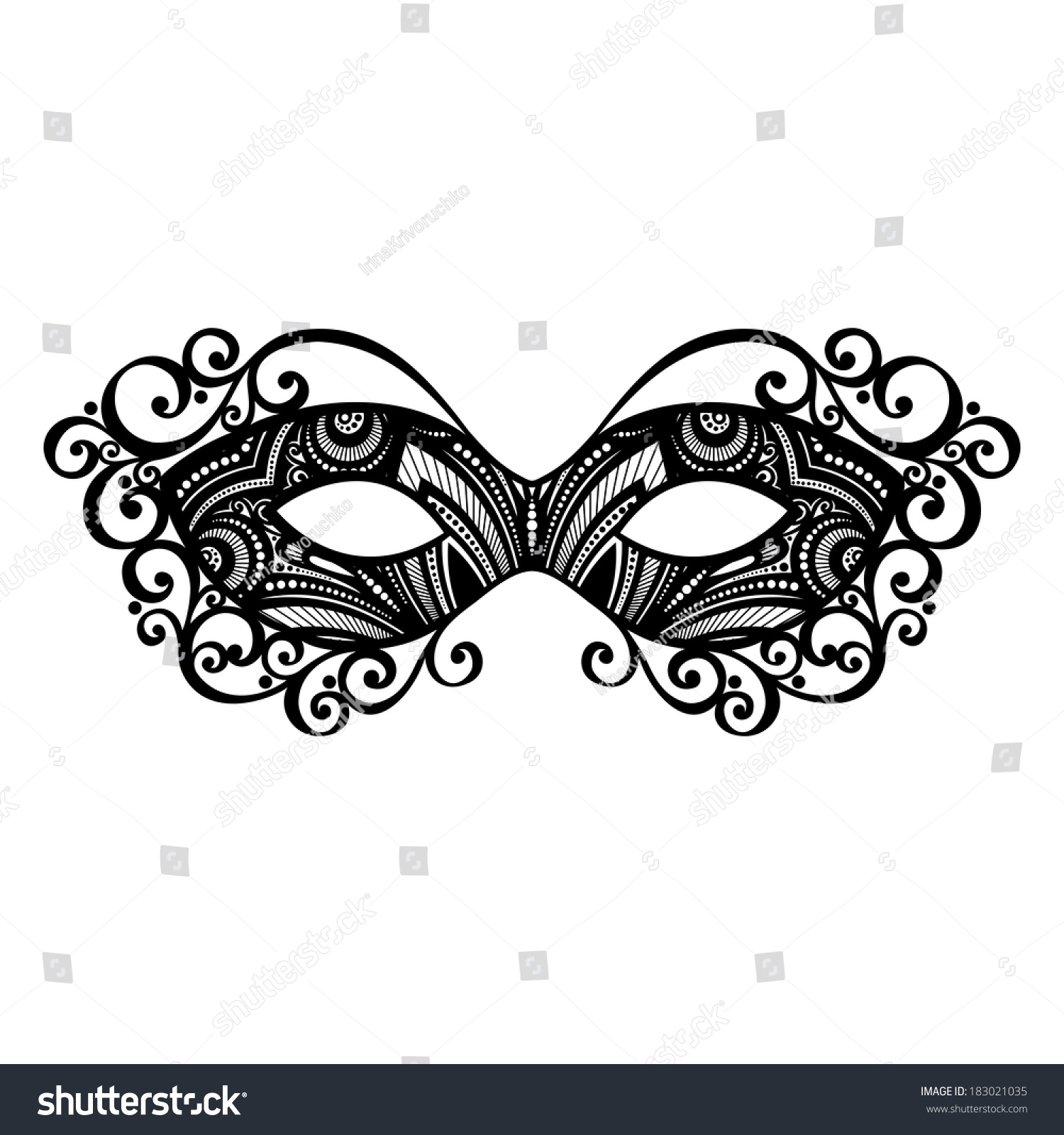 Beautiful Masquerade Mask Patterned Design Stock Illustration ...