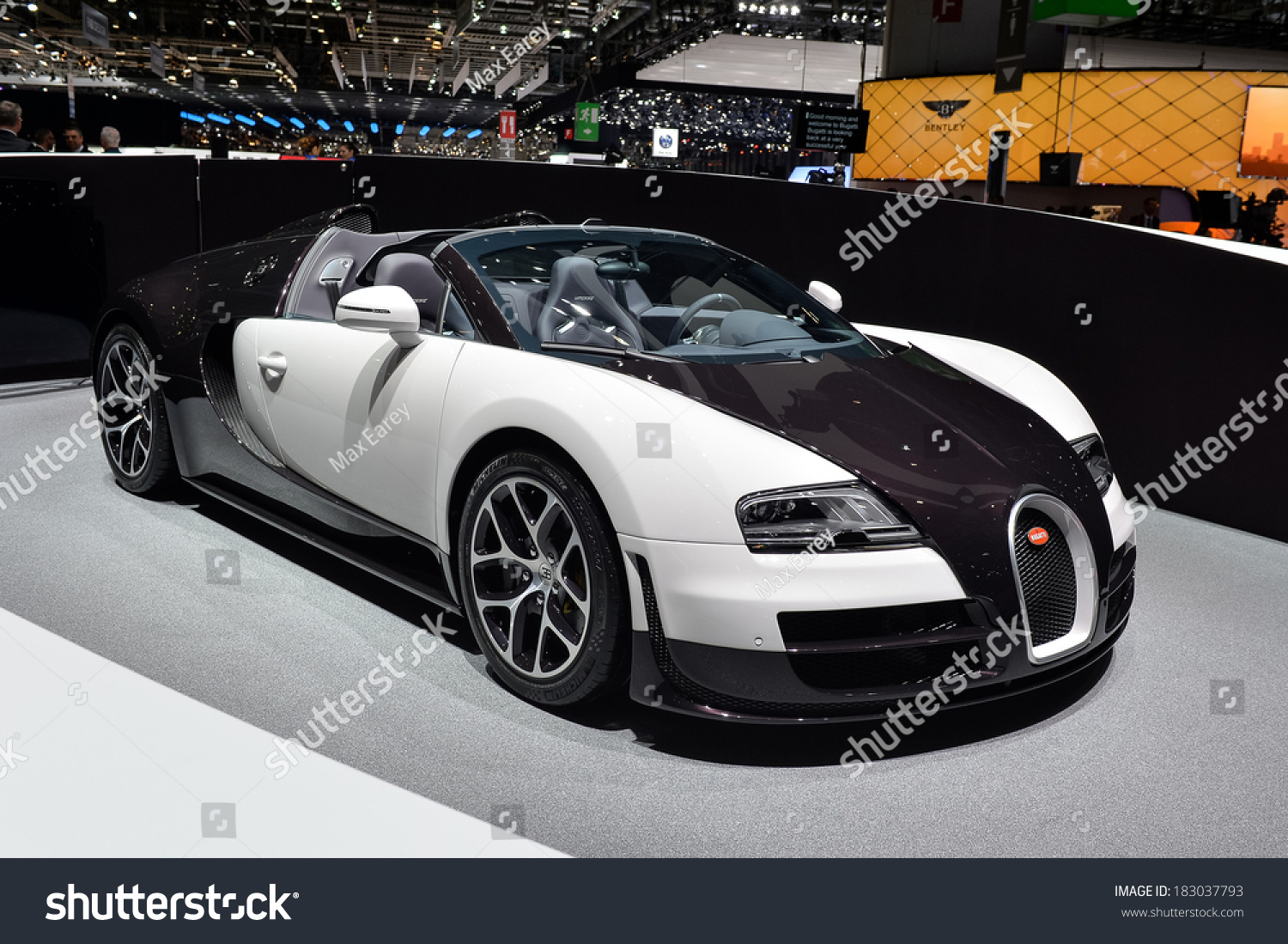 geneva mar 4 bugatti veyron displayed at the 84th international motor show international motor. Black Bedroom Furniture Sets. Home Design Ideas