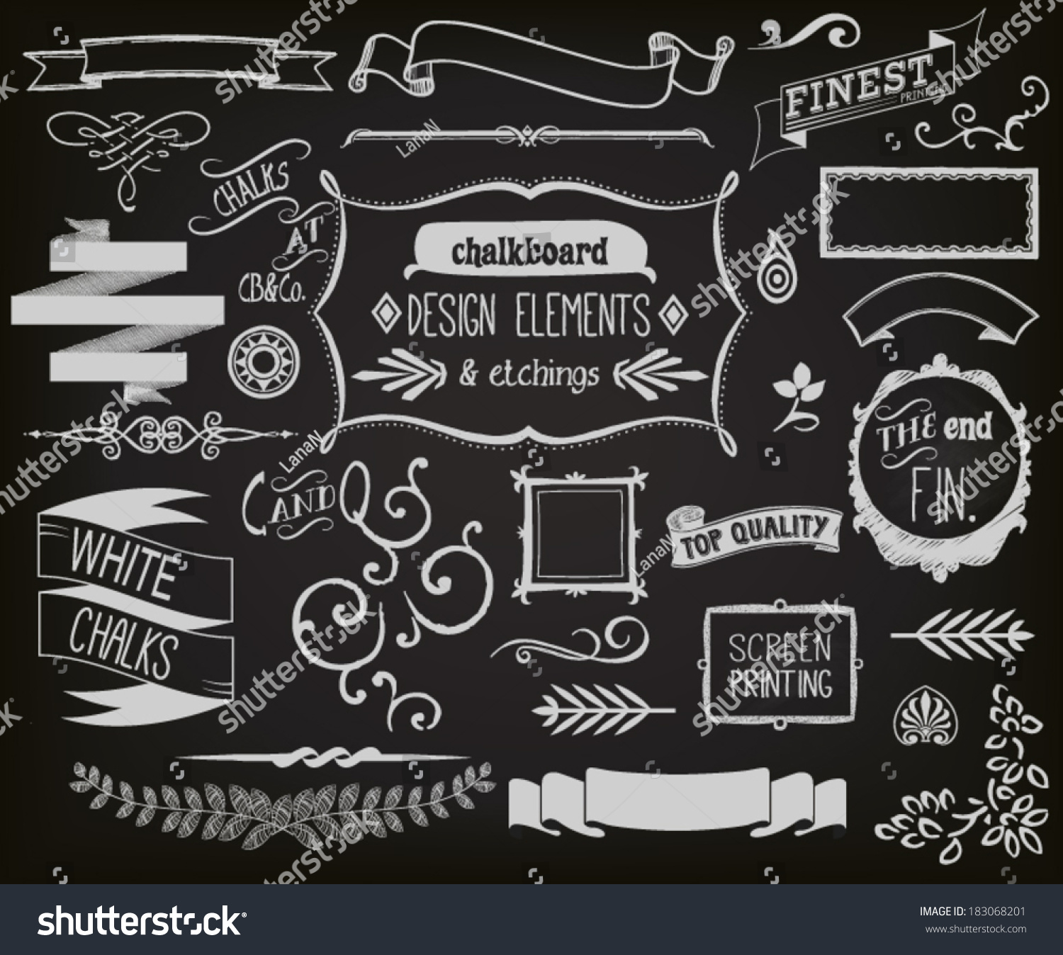 Home Design Ideas Blackboard: Chalkboard Design Elements Etchings Blackboard Clip Stock