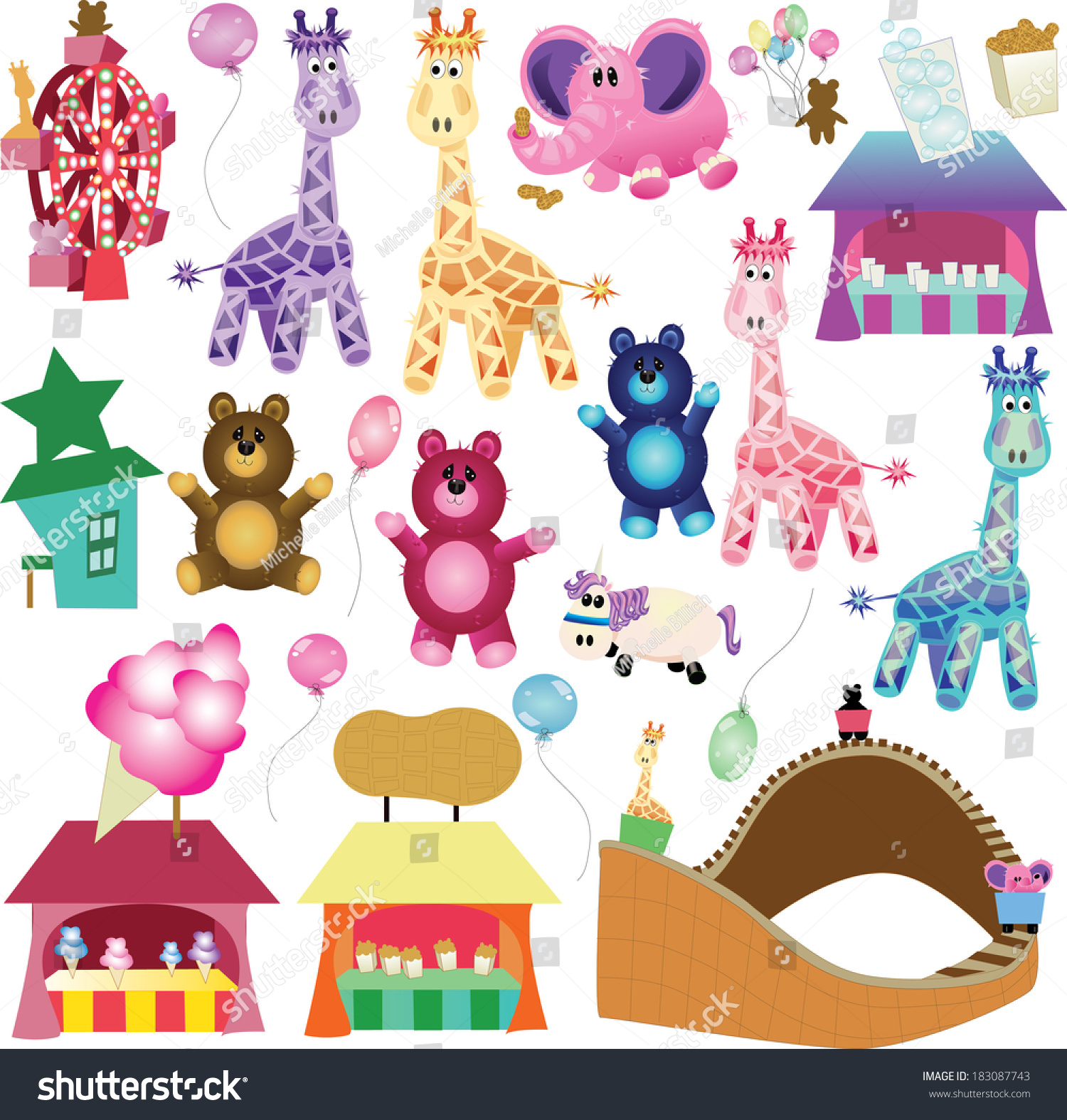 Super Soft Stuffed Animals For Babies, Carnival Stuffed Animalsbean Bag Gangs Carnivalyou Stock Vector Royalty Free 183087743