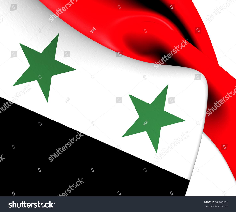 flag syria close up stock illustration 183095111 shutterstock