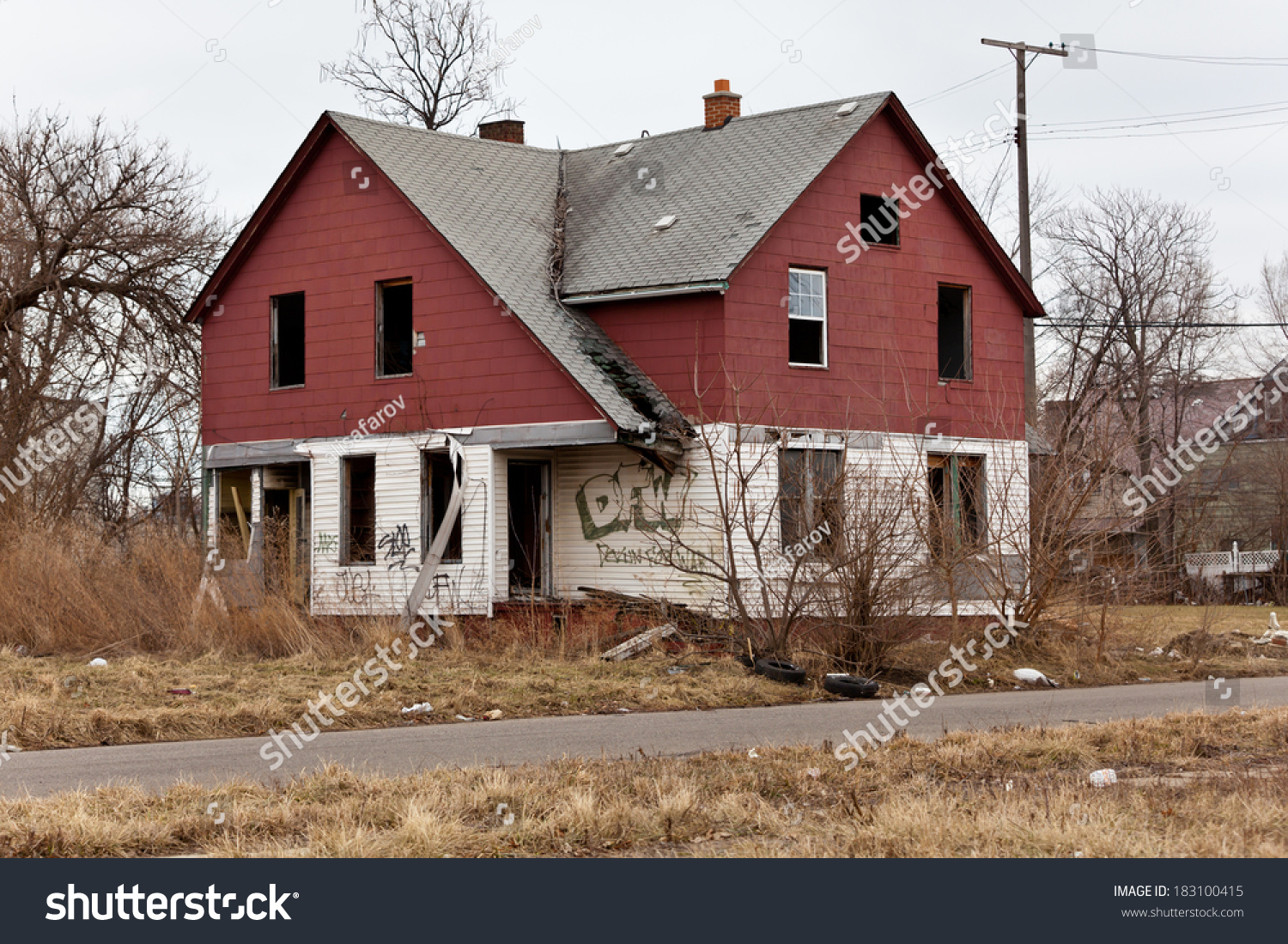 Abandoned houses in detroit michigan this is a deserted for Building a house in michigan