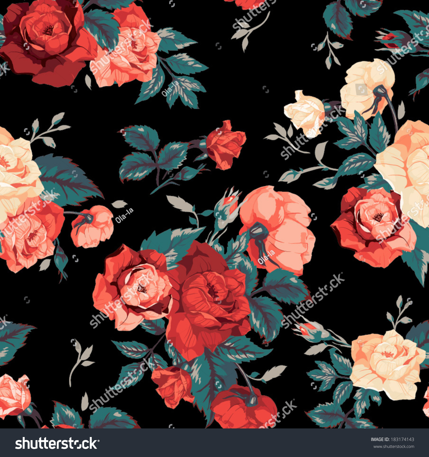 Seamless Floral Pattern Images  Stock Photos amp Vectors