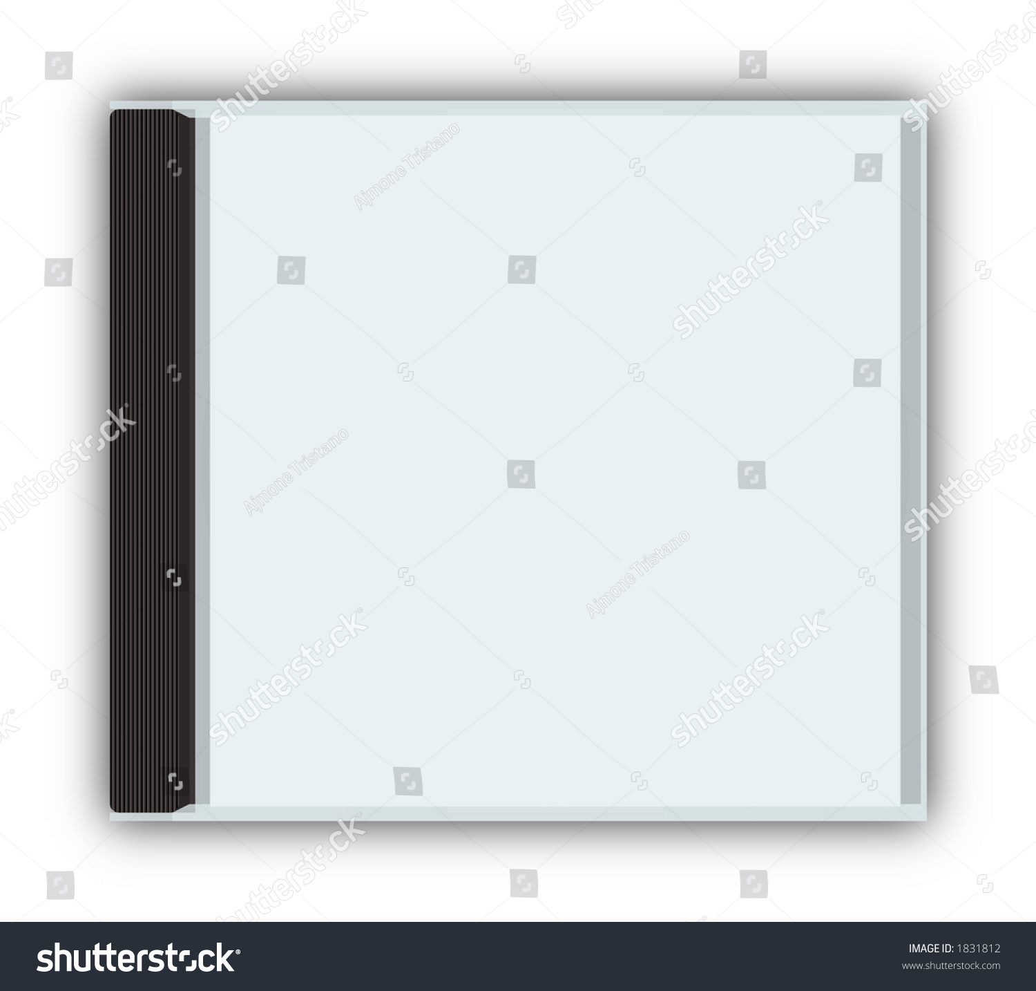 cddvd closed jewel case template with stock illustration 1831812 shutterstock. Black Bedroom Furniture Sets. Home Design Ideas