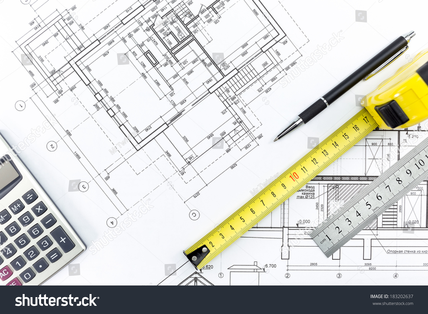 Engineering And Architecture Drawings Work Tools