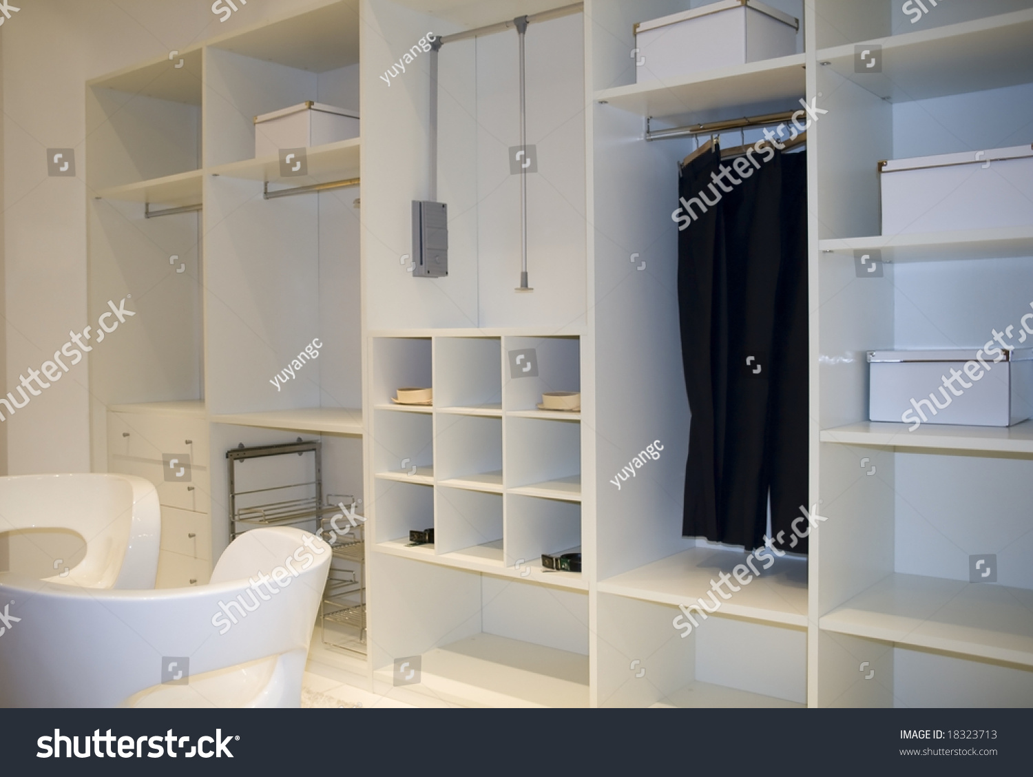 Modern dressing room interior detail stock photo 18323713 for Dressing room interior