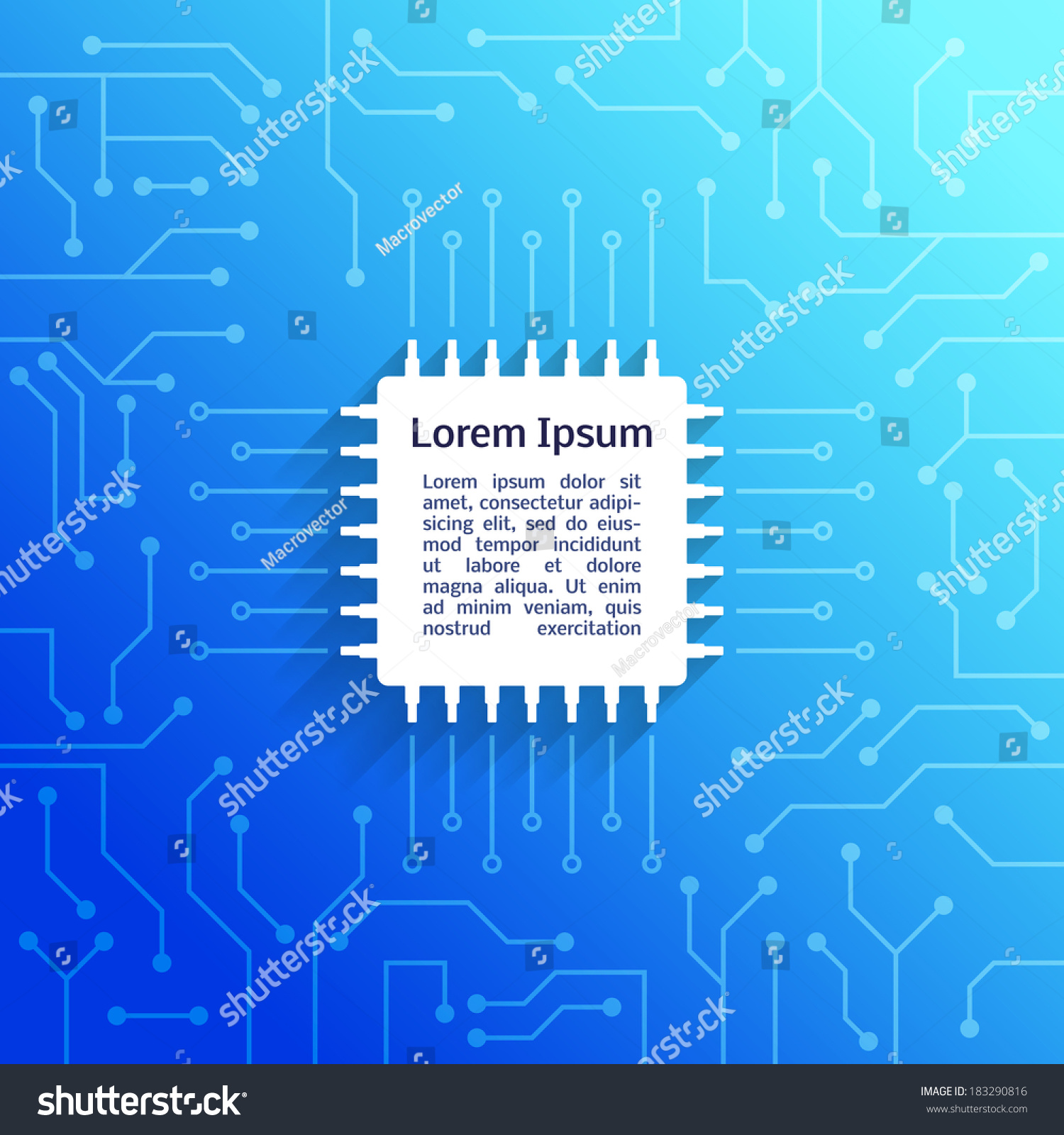 Electronic Device Circuit Board Bright Blue Stock Vector Royalty Assembly Buy Circuits Boardcircuit Background Poster Illustration