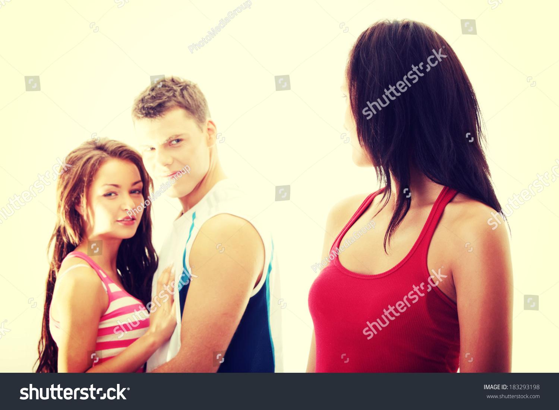flirt girl with boyfriend