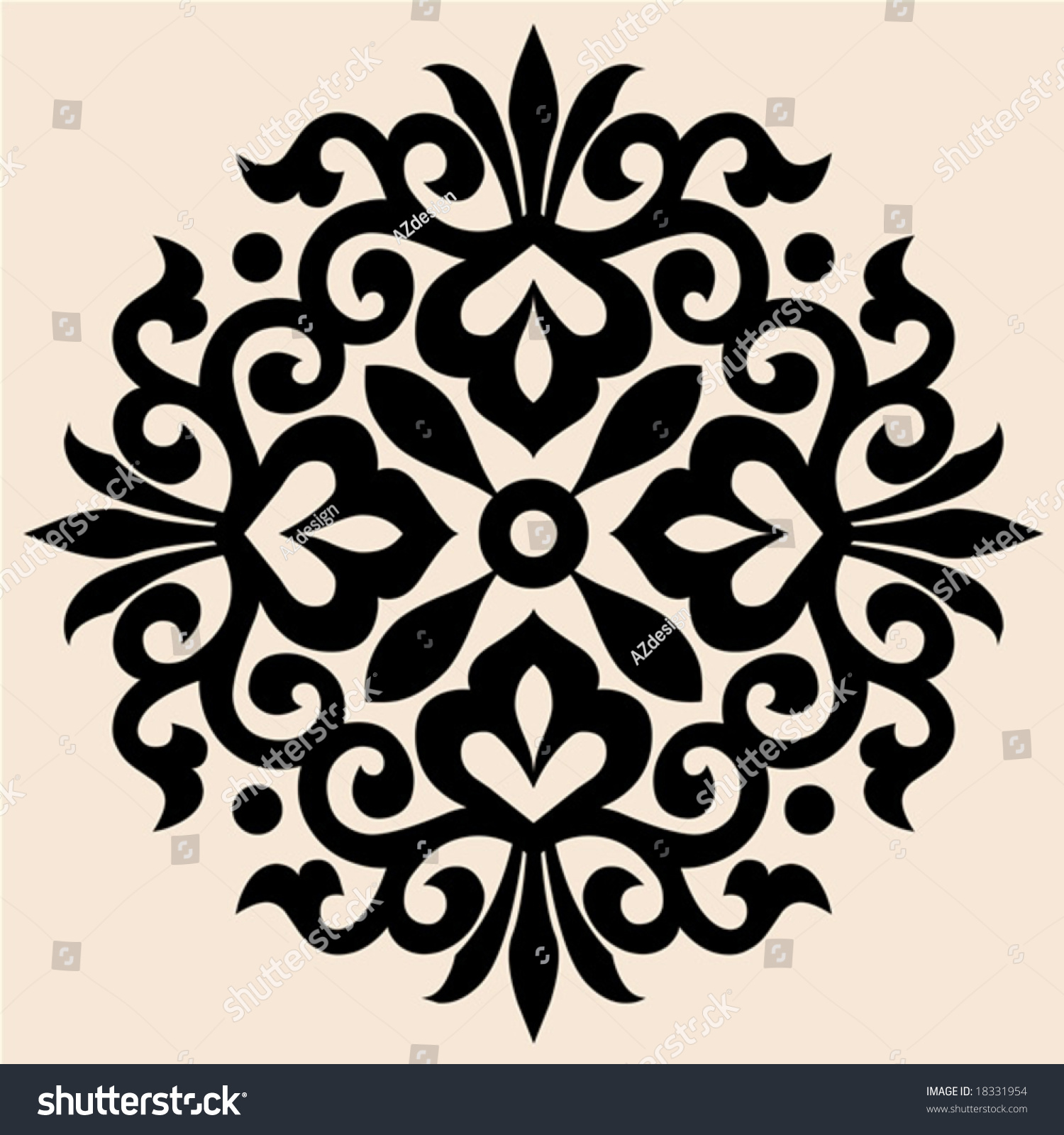 Baroque decoration stock vector 18331954 shutterstock - Deco baroque moderne ...
