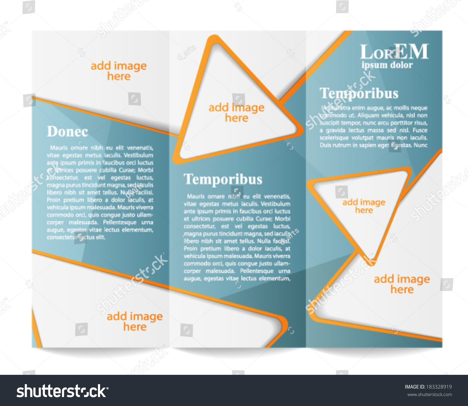 trifold brochure template stock vector royalty free 183328919