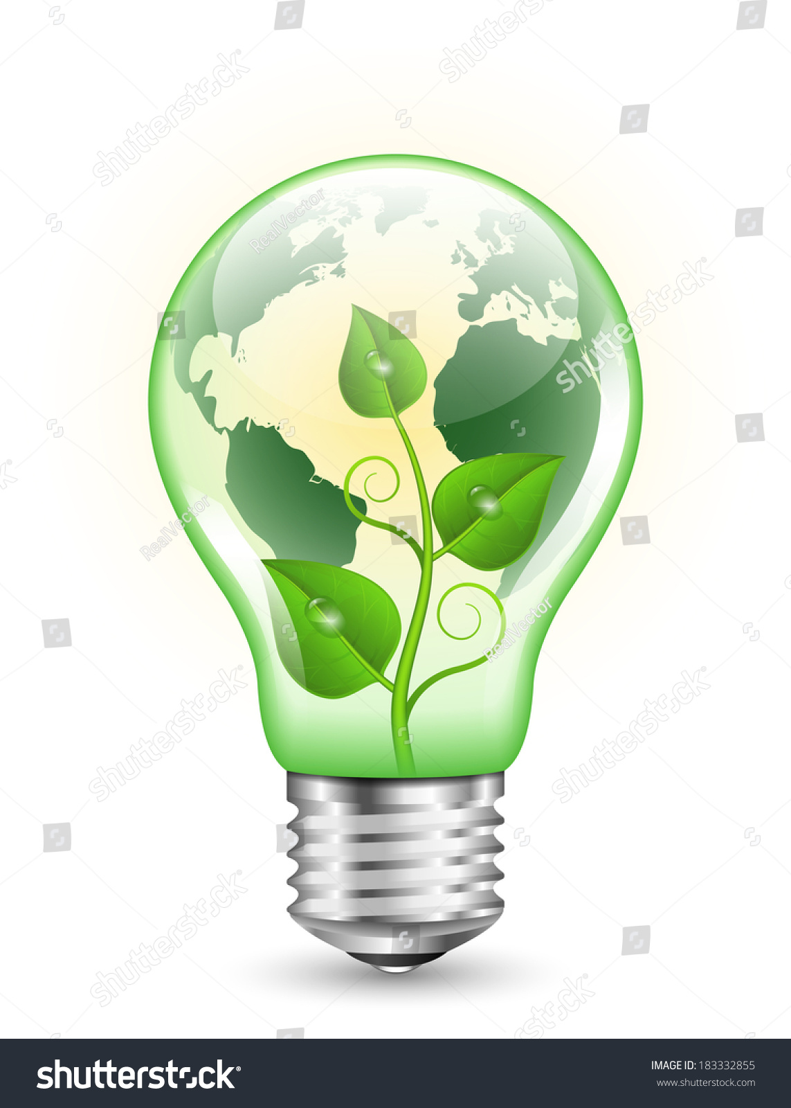 on picture online electrical light stock white green objects clipping with isolated bulb fluorescent path