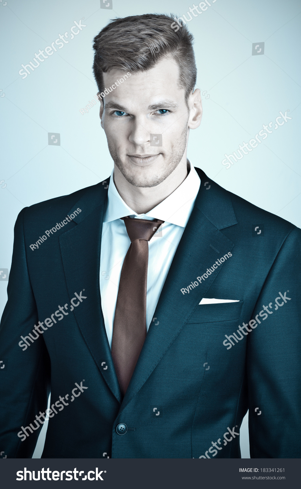 Cheerful young businessman portrait #183341261