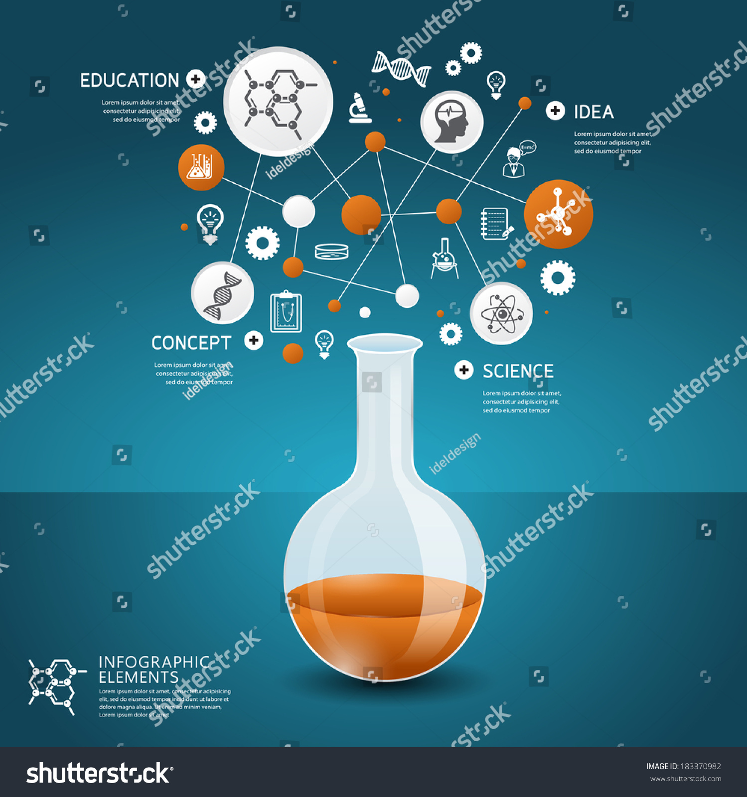 Science Concept Design Template Infographics Stock Vector ...