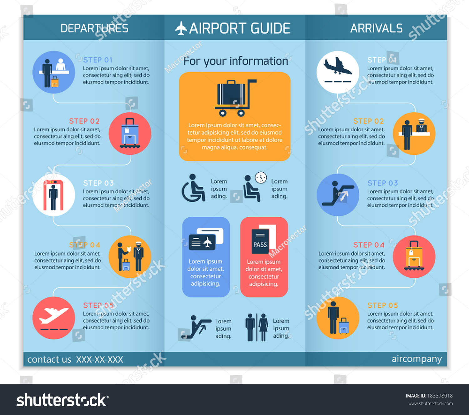 Airport business infographic brochure template security for Security company brochure template