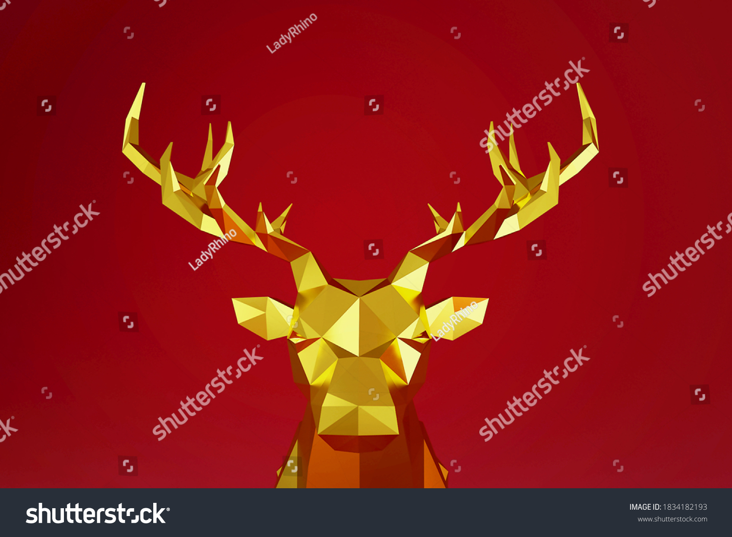 stock-photo-polygon-gold-reindeer-with-r