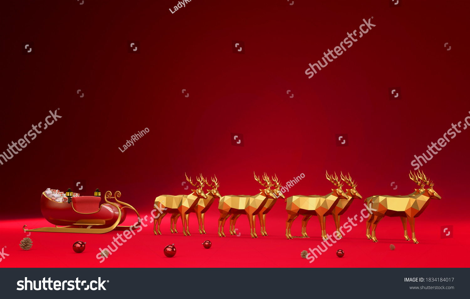 stock-photo-gold-reindeers-and-santa-gif