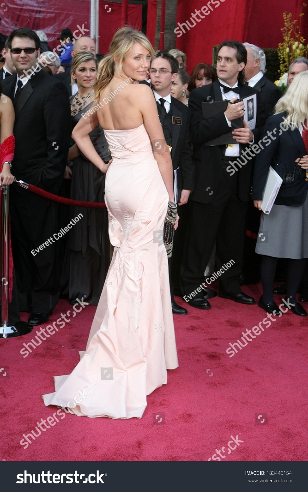 Cameron Diaz Wearing Christian Dior Gown Stock Photo (Edit Now ...