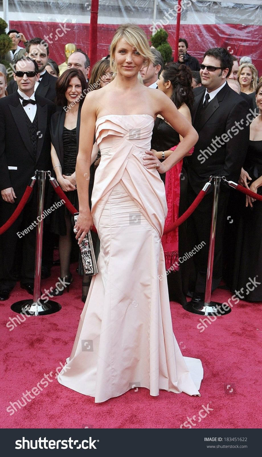 Cameron Diaz Christian Dior Gown Carrying Stock Photo (Edit Now ...
