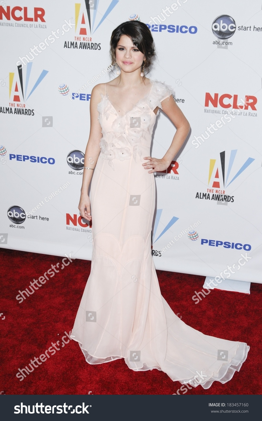 Selena Gomez Wearing Tracy Reese Gown Stock Photo (Edit Now ...