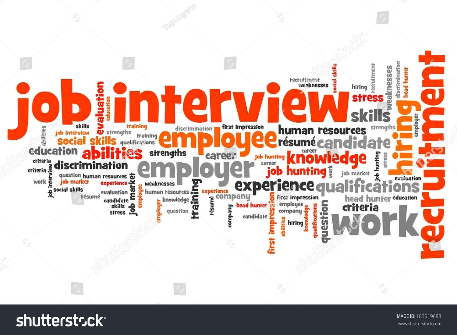 job interview issues concepts word cloud stock illustration job interview issues and concepts word cloud illustration word collage concept