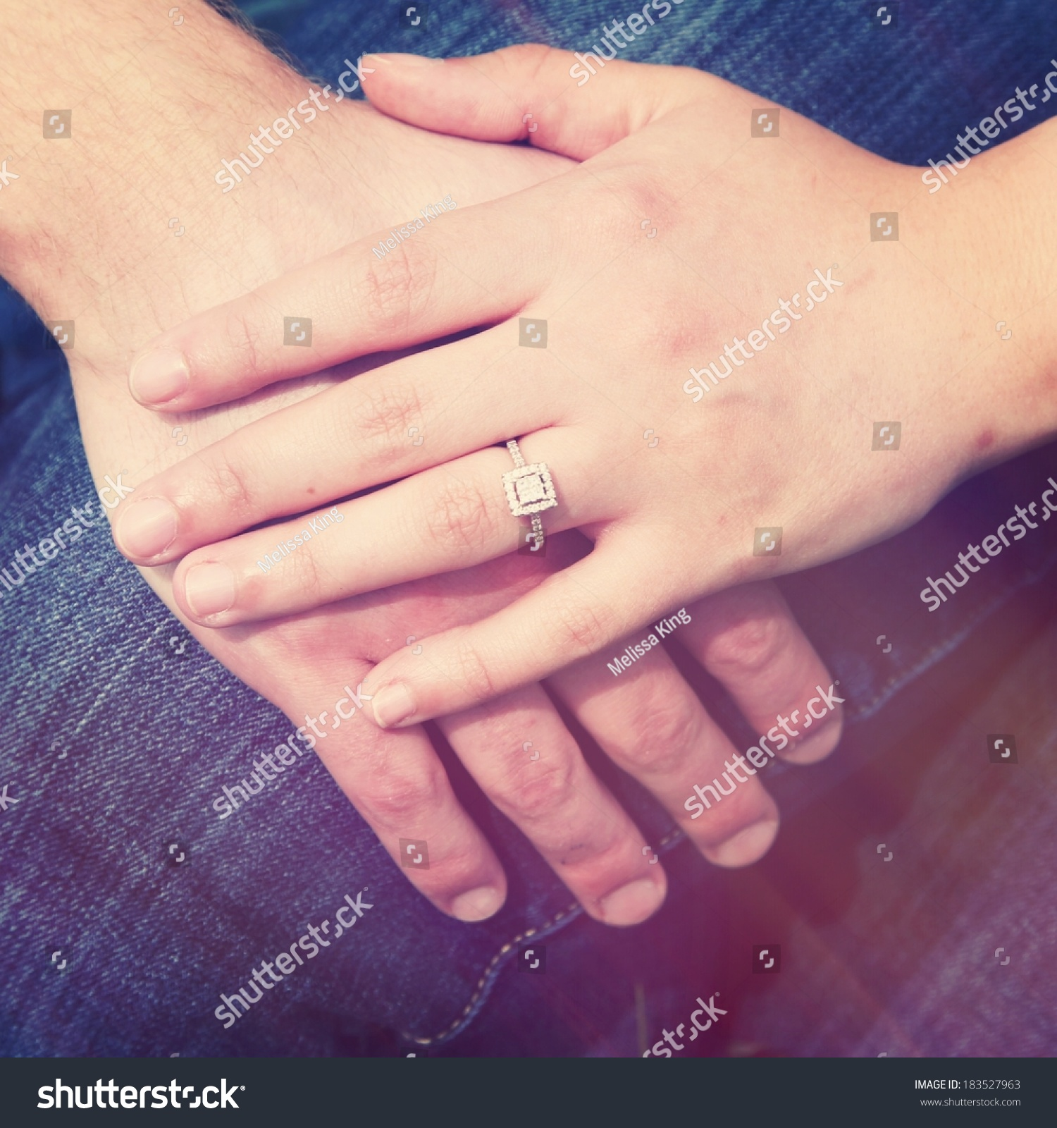 Hands Together Showing Ring Stock Photo (Edit Now) 183527963 ...