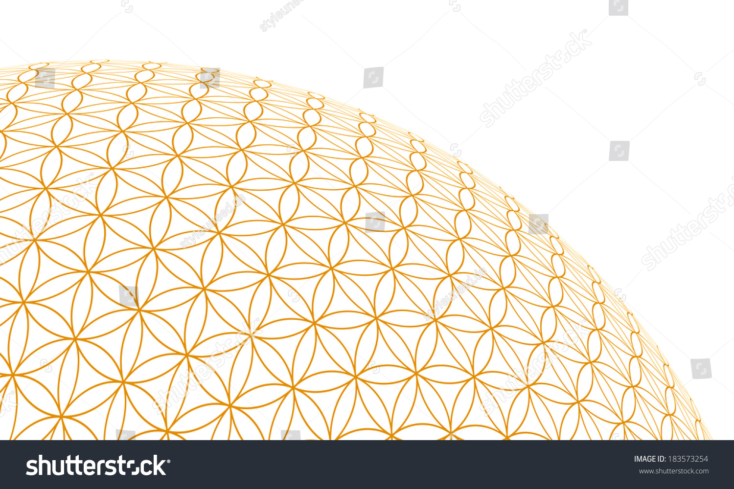 3d Flower Of Life - Gold On White Background 3 Stock Photo ...