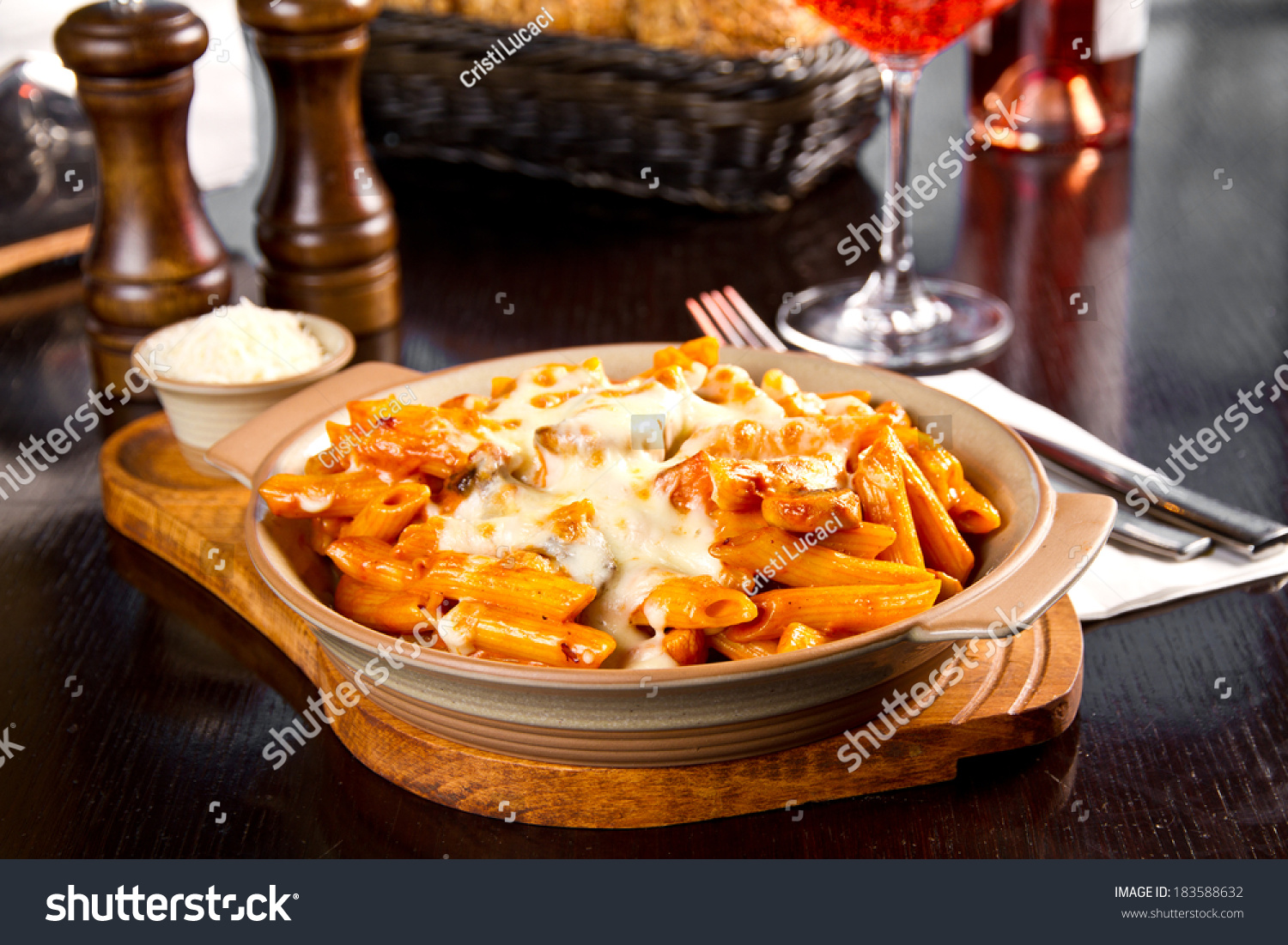 Baked Pasta With Tomato Sauce Stock Photo 183588632 : Shutterstock