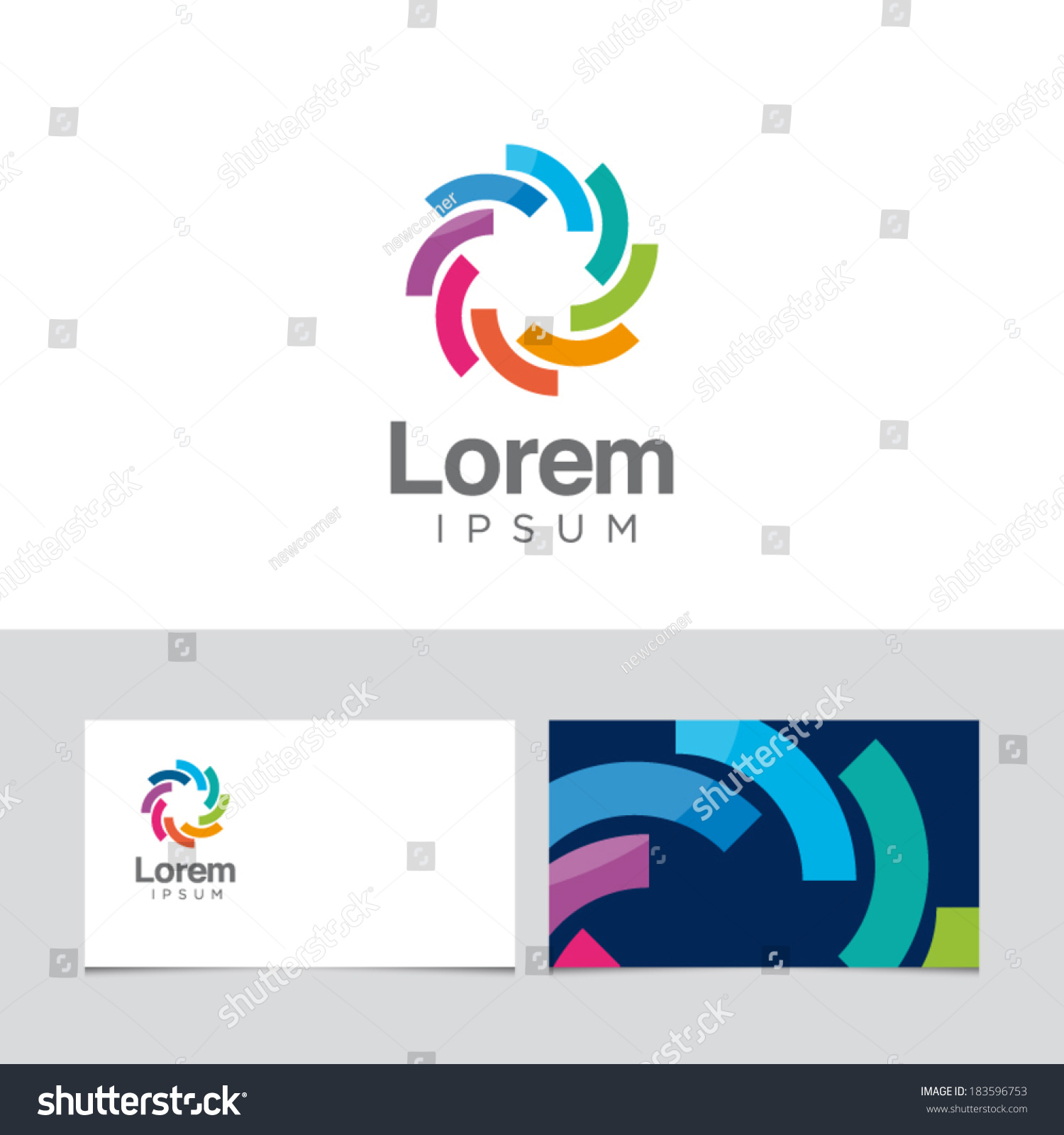 Icon Design Element Business Card Template Stock Vector