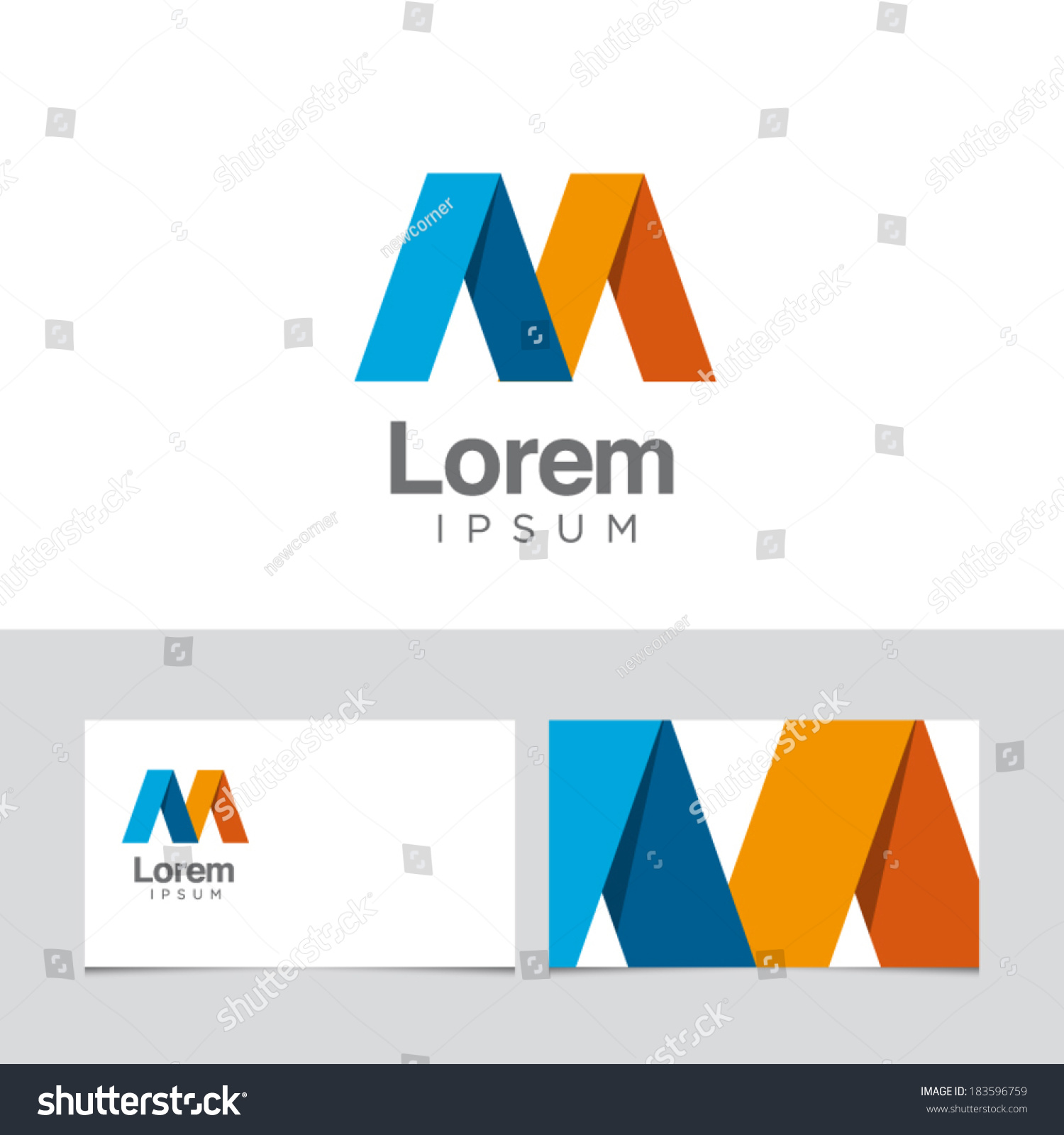 Icon Design Element Business Card Template Stock Photo (Photo ...