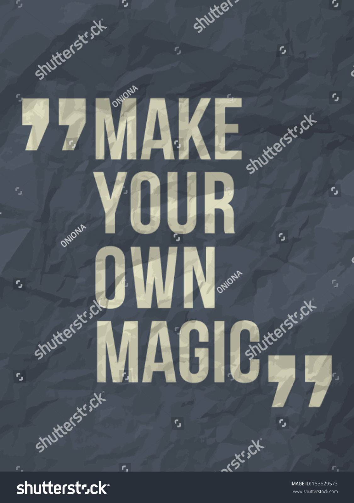 Make Your Own Quote Delectable Make Your Own Magic Quote On Stock Vector 183629573  Shutterstock
