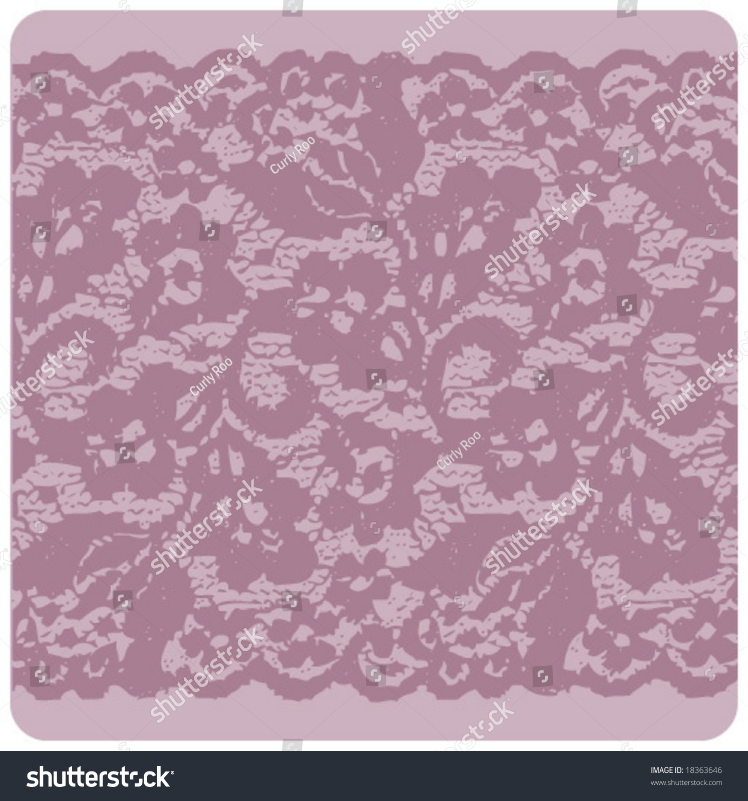 Lace Fabric Textile Seamless Elegant Pattern Stock Vector