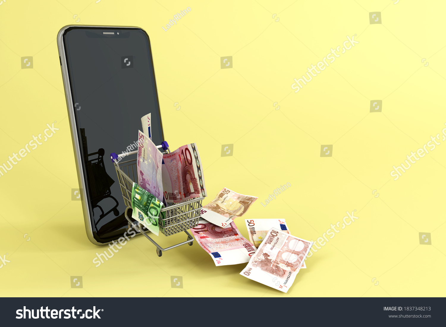 stock-photo-mobile-bank-notes-and-shoppi