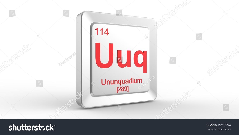 Uuq symbol 114 material ununquadium chemical stock illustration uuq symbol 114 material for ununquadium chemical element of the periodic table gamestrikefo Images