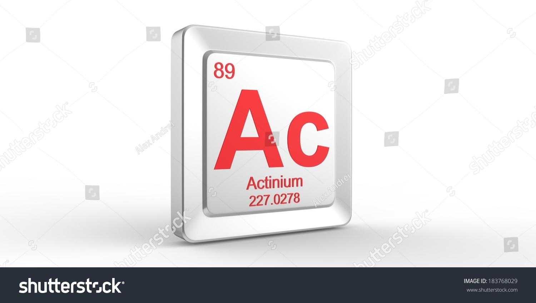 Ac Symbol 89 Material Actinium Chemical Stock Illustration 183768029