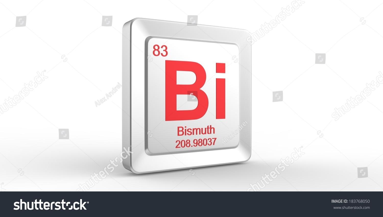 Bi Symbol 83 Material Bismuth Chemical Stock Illustration 183768050