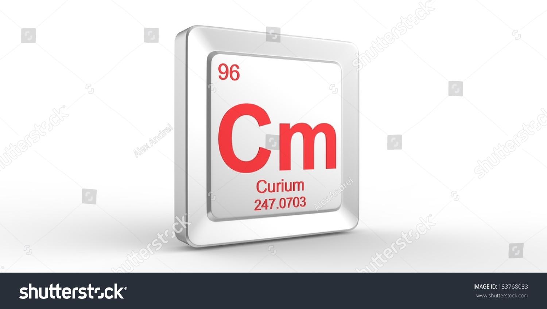 Cm Symbol 96 Material Curium Chemical Stock Illustration 183768083