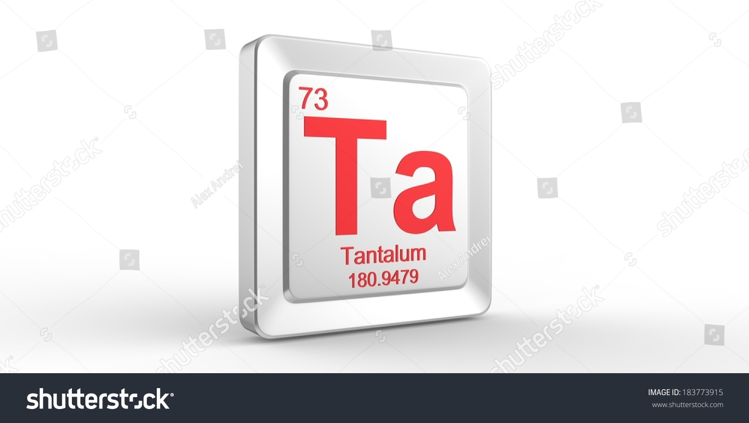 Ta Symbol 73 Material Tantalum Chemical Stock Illustration 183773915
