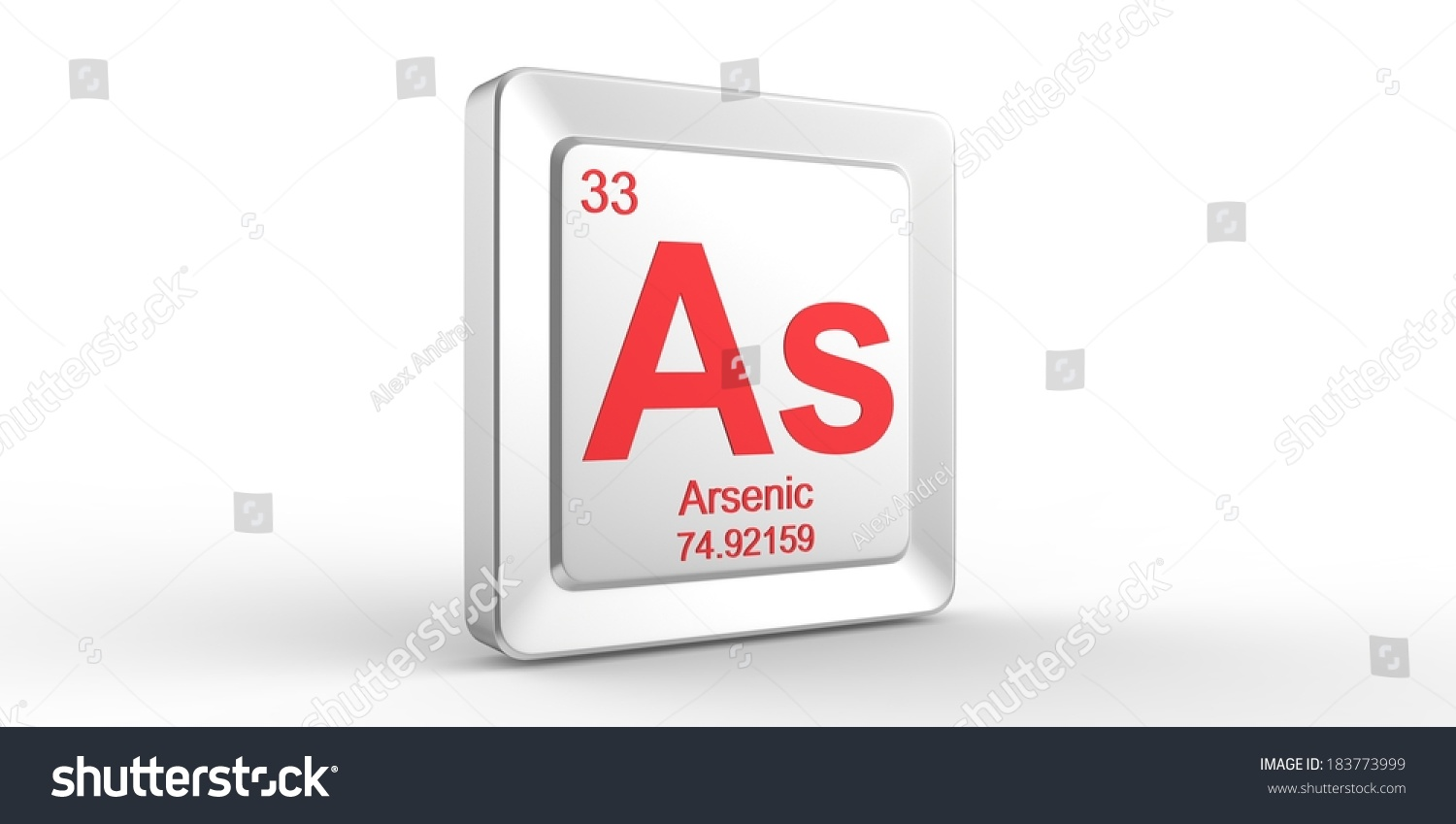 As Symbol 33 Material For Arsenic Chemical Element Of The Periodic