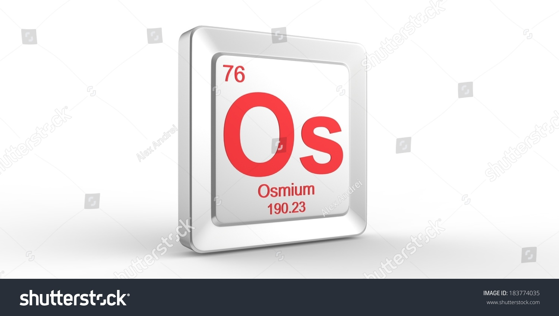 Os symbol 76 material osmium chemical stock illustration 183774035 os symbol 76 material for osmium chemical element of the periodic table urtaz Choice Image