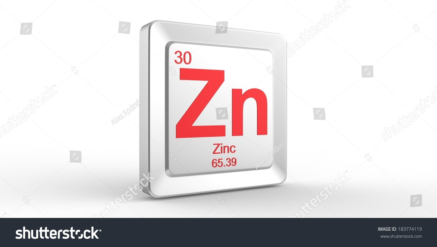 Royalty Free Zn Symbol 30 Material For Zinc Chemical 183774119