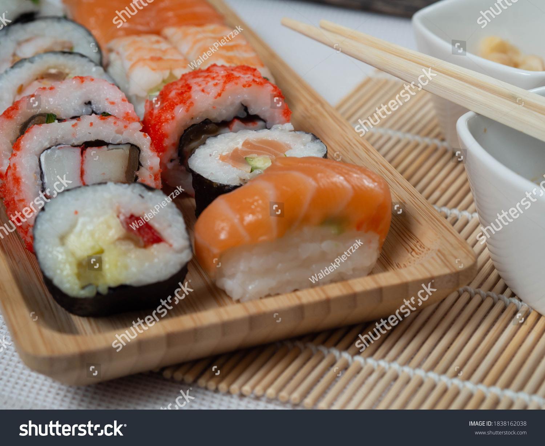 stock-photo-japanese-sushi-food-maki-and