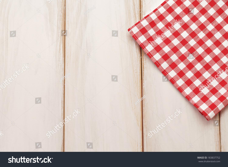 Royalty Free Plaid Cloth On Picnic Table Picnic