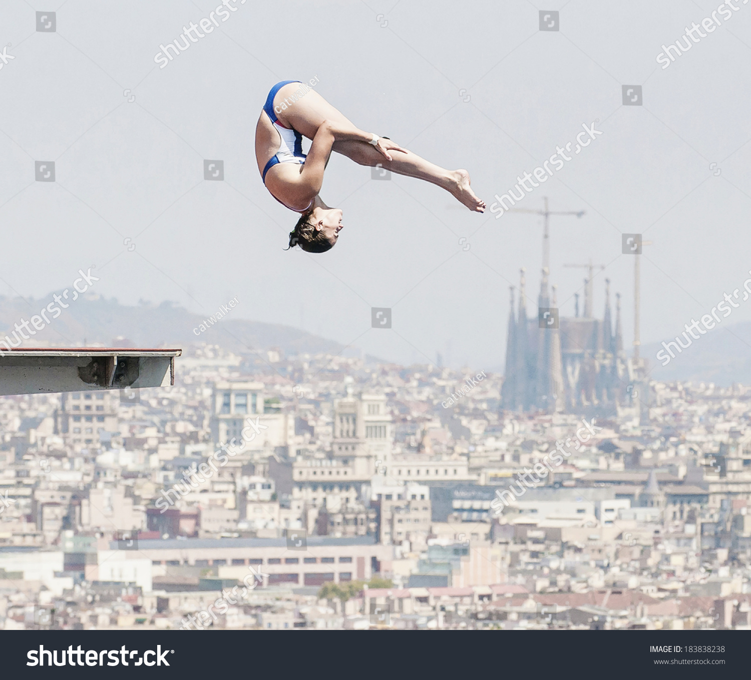Barcelona july 20 diving athlete action stock photo for Swimming pool show barcelona