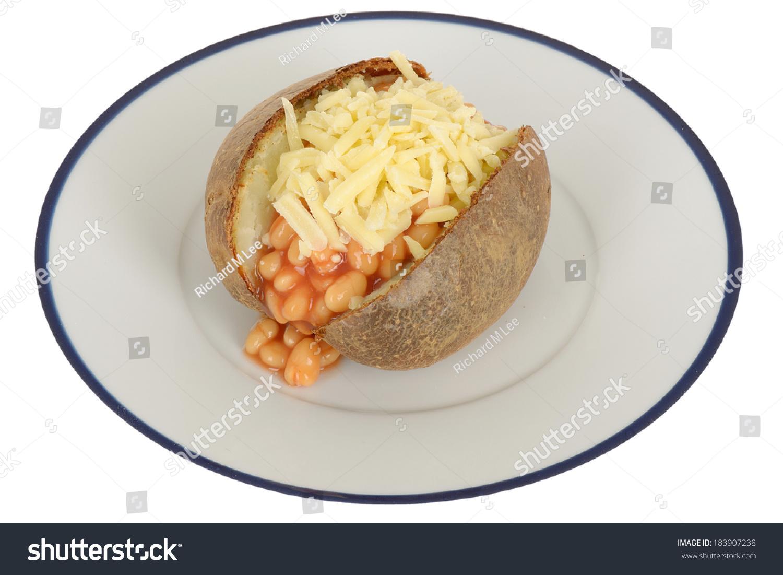 Baked Beans Cheese Jacket Potato Stock Photo Edit Now 183907238