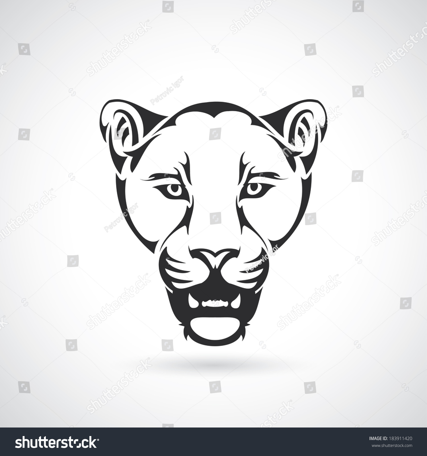 Panther Head Vector Illustration Stock Vector 183911420