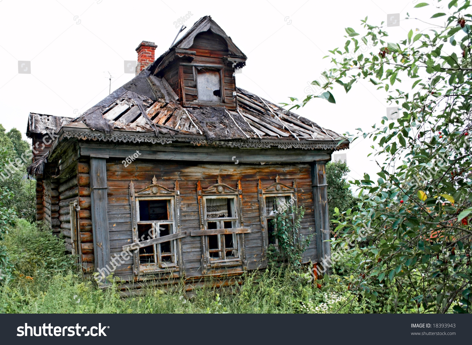 Abandoned Old House Russian Village Stock Photo 18393943