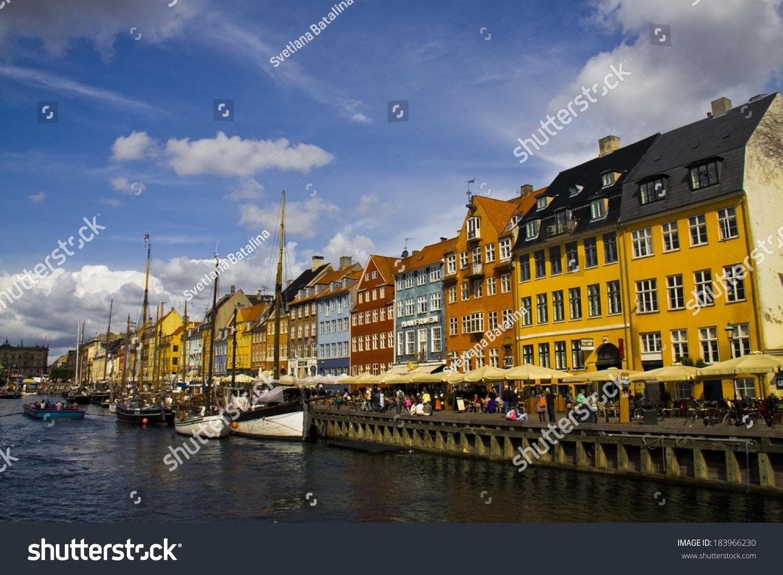 Copenhagen, Denmark - May 14: Nyhavn At May 14, 2013, Copenhagen, Denmark. Nyhavn Is The Harbor ...