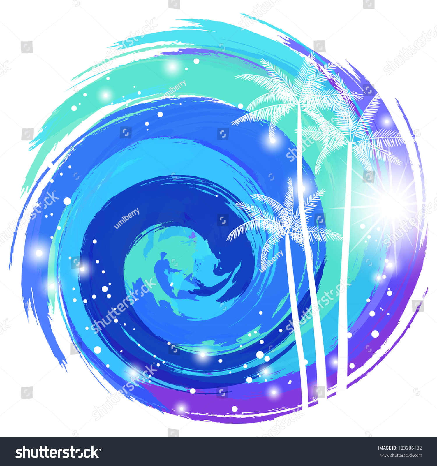 Vortex Cool Sea Stock Vector (Royalty Free) 183986132 - Shutterstock