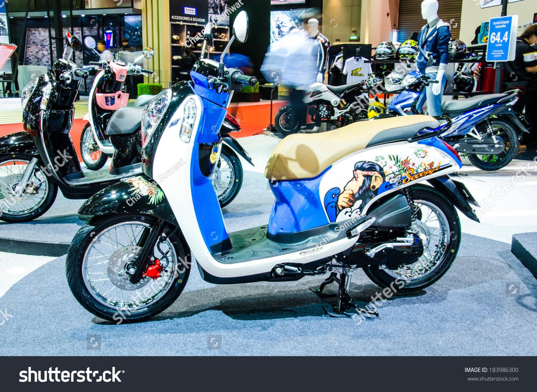 Bangkok march 24 honda scoopyi motorbike stock photo for Honda motor company stock